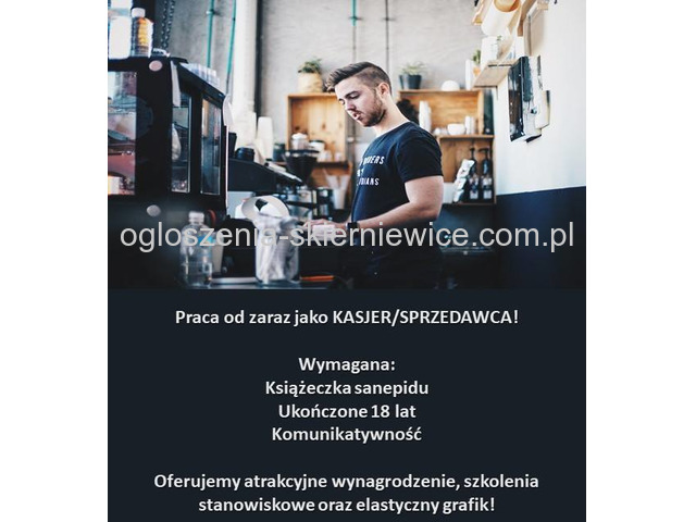 Praca w markecie w Skierniewicach -obsługa kasy!